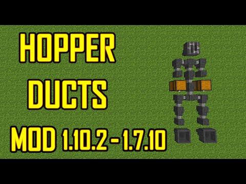 Hopper Duct Mod Minecraft  Para 1.10.2 y Otras Versiones En Español   Mod Review