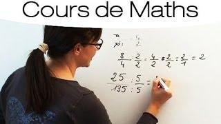Maths facile : Calculer et simplifier une fraction