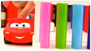 SUPER FUEL! Lightning McQueen - FLYING CHEMISTRY LAB! Toy Cars videos for kids