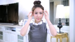 ทำผม Bun แบบเกาหลี น่ารักง่ายๆ แค่ 3นาทีจบ!  โดย Mayy R - All Things Hair