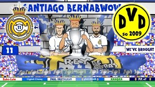 Real Madrid vs Dortmund 2-2 (Parody Champions League 2016 goals and highlights)