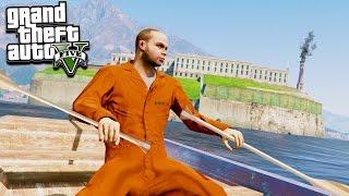 GTA 5 ESCAPING ALCATRAZ! NEW PRISON ESCAPE! (GTA 5 Mods)