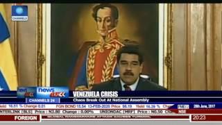 Police Helicopter Attacks Supreme Court In Venezuela