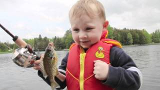 Boy's Awesome Reaction To Catching His First Fish