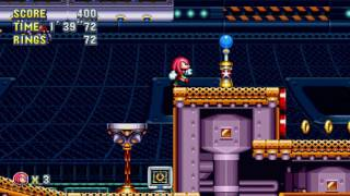 Sonic Mania - Knuckles in Flying Battery Zone