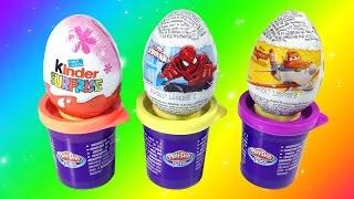 Surprise Eggs Unboxing - Disney Princess Play House And Kinder Joy Surprise Eggs Unboxing