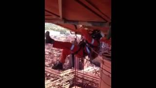 Me welding in the wind work