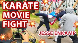 I SHOT A KARATE ACTION MOVIE FIGHT (Behind The Scenes) — Jesse Enkamp