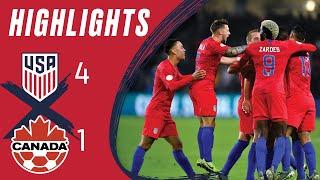 USMNT 4-1 CANADA | Zardes double DOWNS Canada | Highlights