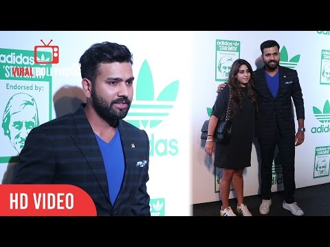 Xxx Mp4 Rohit Sharma With Wife Ritika Sajdeh Celebrating Sports Icon Stan Smith S Visit To India 3gp Sex