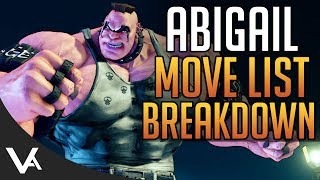 SFV - Abigail Gameplay Move List Breakdown! Basic Normals, Target Combos & More For Street Fighter 5