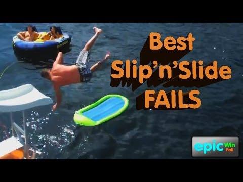 Epic Win Fail HD Compilation Best Slip n Slide Fails 2012 2013