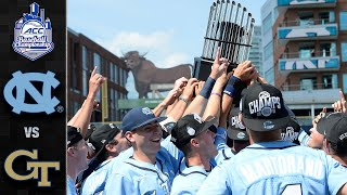 North Carolina vs. Georgia Tech ACC Baseball Championship Highlights (2019)