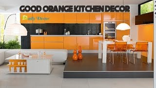 [Daily Decor] Orange Kitchen Decorating Ideas