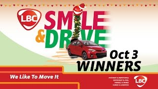 LBC Smile & Drive October Winners