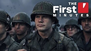 The First 15 Minutes of Call of Duty: WW2 Single-Player Campaign (Captured in 4K)