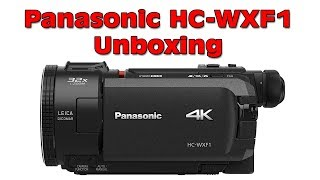New Panasonic HC WXF1 4K Ultra HD Camcorder Unboxing