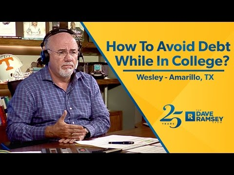 How To Avoid Debt While In College?