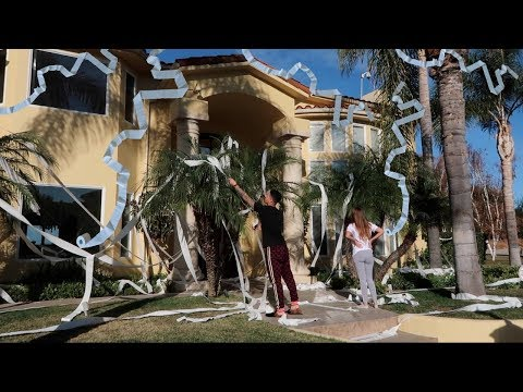 SOMEONE TOILET PAPERED THE ACE FAMILY'S HOUSE!!!