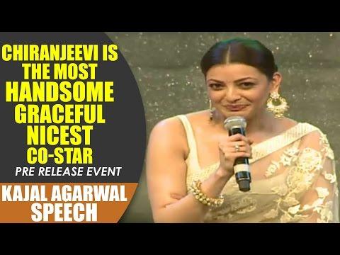Kajal Agarwal Speech || Khaidi No 150 Pre Release Event || Megastar Chiranjeevi || Kajal