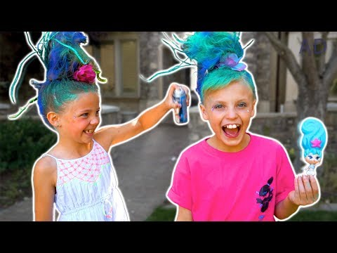 Payton s New Hairstyle with Friend Blume Doll