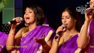 Vande Mataram song by Berklee Indian Ensemble with V P & R D @ 54th Bengaluru Ganesh Utsava