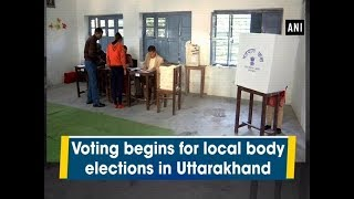 Voting begins for local body elections in Uttarakhand - #Uttarakhand News