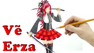 Vẽ Erza Scarlet Trong Fairy Tail - How to draw Erza Scarlet