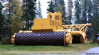 World Amazing Modern Machines Technology: Heavy Equipment Road Contruction, Stump Grinder, Mulcher