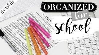 How To Organize Your Life For Back To School