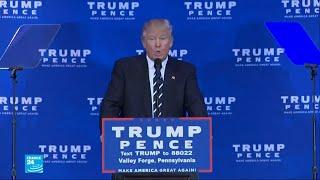 ترامب يوضح أنه نسي أن يستعمل صيغة النفي في جملة له ويتنصل من تصريحاته