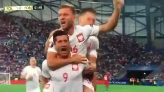 LEWANDOVSKI faz primeiro gol contra Portugal  POLONIA X PORTUGAL  EURO2016