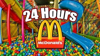 24 HOUR OVERNIGHT in MCDONALDS PLAYPLACE FORT // LOCKED in MCDONALDS PLAY PLACE OVERNIGHT