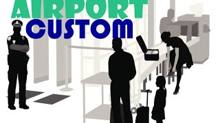 Important questions at the airport - Customs control | English conversation