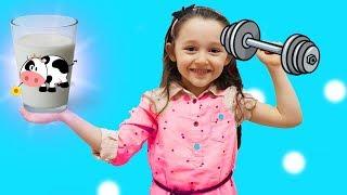 ÖYKÜ ÇOK GÜÇLÜ OLDU Learn colors with Baby become strong in GYM , Finger Family Song for Kids