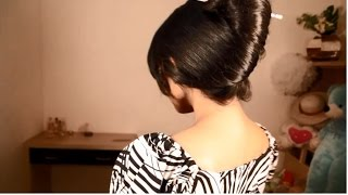 french twist using chopstick for super long hair