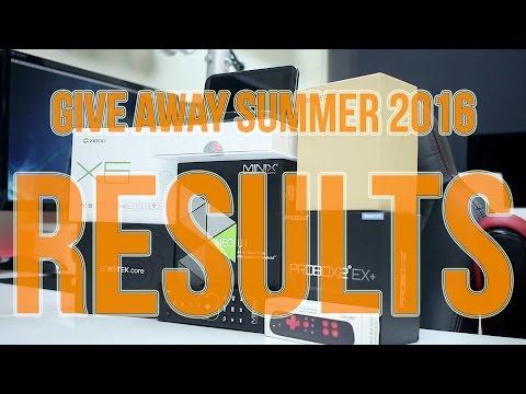 Mega GiveAway Results - Summer 2016