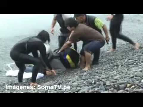 Accidente de parapentista en la Costa Verde