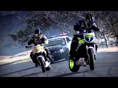Ken Block DC Police chase bikes, incredible drifting HD