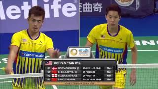 Yonex Denmark Open 2016 | Badminton F M4-MD | Isa/Phu vs Goh/Tan
