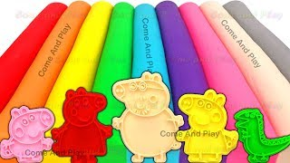 Learn Colors Play Doh Modelling Clay Peppa Pig Family Candy Ice Cream Surprise Toys Fun for Kids
