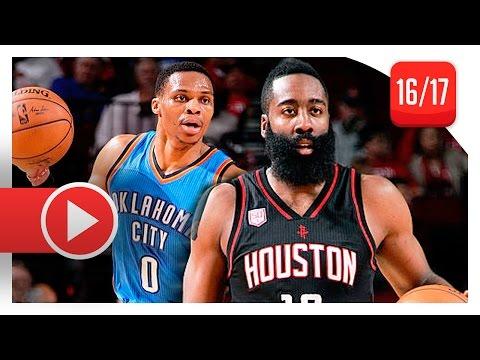 James Harden vs Russell Westbrook MVP Duel Highlights 2017.01.05 Rockets vs Thunder MUST WATCH