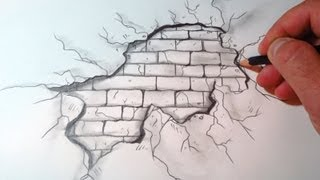 How To Draw A Cracked Brick Wall (The Original)