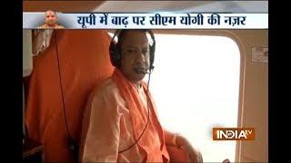 CM Yogi Adityanath ने बाढ़ से प्रभावित इलाकों का हवाई सर्वेक्षण किया