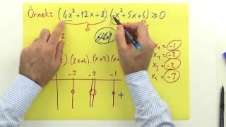 2. Dereceden Eşitsizlikler 1 - Şenol Hoca