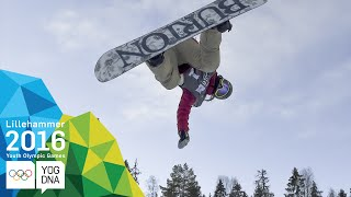 Snowboard Halfpipe - Chloe Kim (USA) wins Ladies