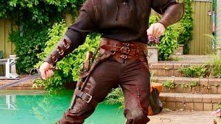 Pirate Batman Cosplay Update: Pants & Bracers!
