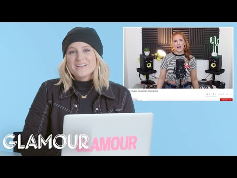 Meghan Trainor Watches Fan Covers On YouTube | You Sang My Song | Glamour
