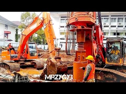 Xxx Mp4 Doosan DX225LCA Excavator Sany SR150C Drilling Rig Deep Foundation Work 3gp Sex