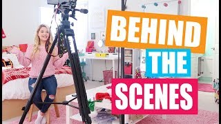 Behind the Scenes of Filming a Video!